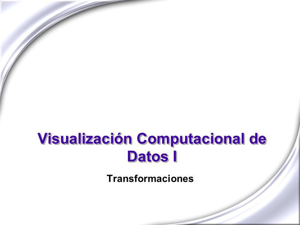 Visualización Computacional de Datos I Transformaciones