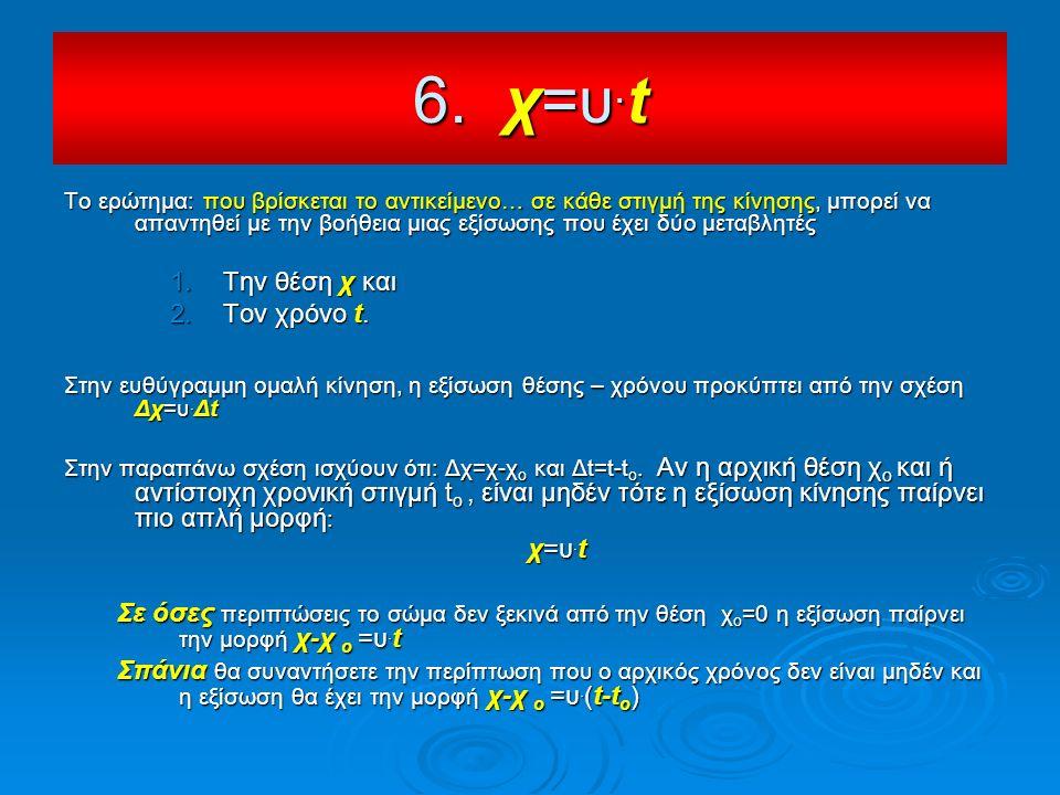 Το ερώτημα: που βρίσκεται το αντικείμενο… σε κάθε στιγμή της κίνησης, μπορεί να απαντηθεί με την βοήθεια μιας εξίσωσης που έχει δύο μεταβλητές 1.Την θ