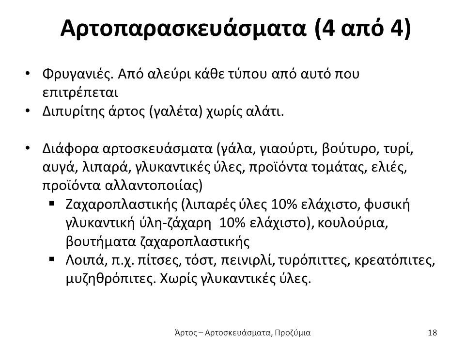 Αρτοπαρασκευάσματα (4 από 4) Φρυγανιές.