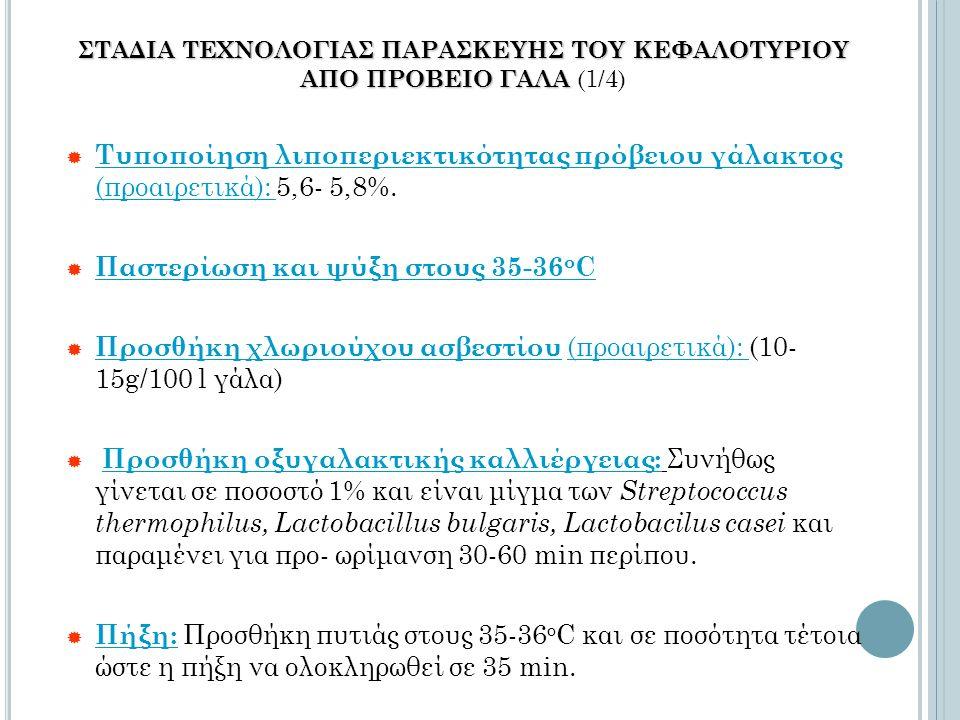 ΣΤΑΔΙΑ ΤΕΧΝΟΛΟΓΙΑΣ ΠΑΡΑΣΚΕΥΗΣ ΤΟΥ ΚΕΦΑΛΟΤΥΡΙΟΥ ΑΠΟ ΠΡΟΒΕΙΟ ΓΑΛΑ ΣΤΑΔΙΑ ΤΕΧΝΟΛΟΓΙΑΣ ΠΑΡΑΣΚΕΥΗΣ ΤΟΥ ΚΕΦΑΛΟΤΥΡΙΟΥ ΑΠΟ ΠΡΟΒΕΙΟ ΓΑΛΑ (1/4)  Τυποποίηση λιπ