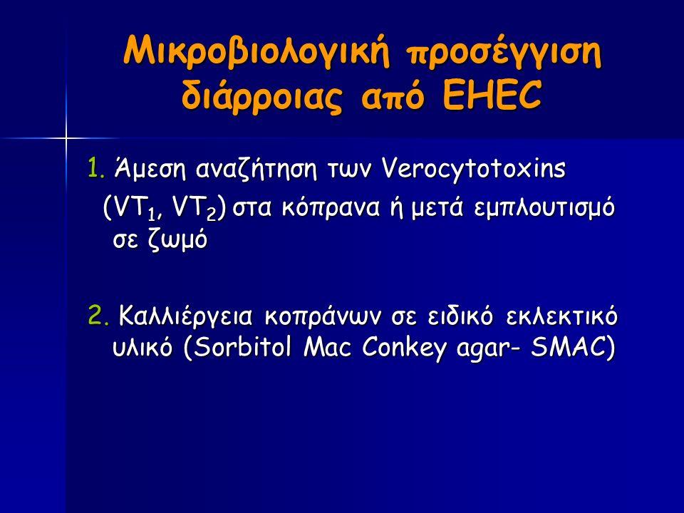 Μικροβιολογική προσέγγιση διάρροιας από EHEC 1.