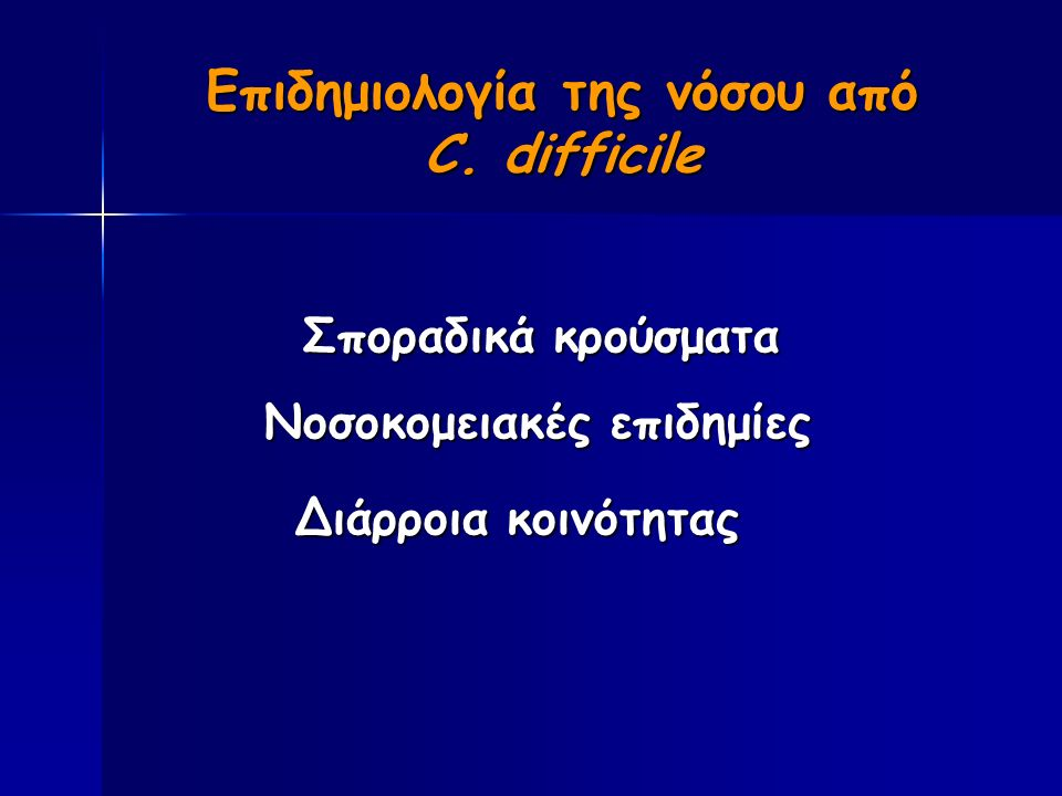Επιδημιολογία της νόσου από C.