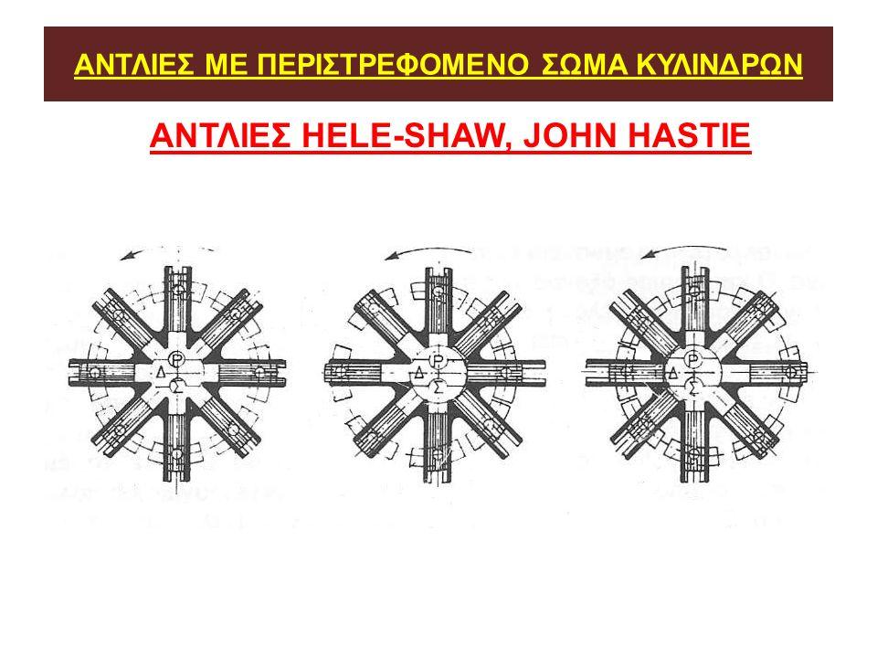 ΑΝΤΛΙΕΣ ΜΕ ΠΕΡΙΣΤΡΕΦΟΜΕΝΟ ΣΩΜΑ ΚΥΛΙΝΔΡΩΝ ΑΝΤΛΙΕΣ ΗELE-SHAW, JOHN HASTIE