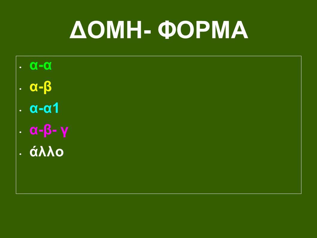 ΔΟΜΗ- ΦΟΡΜΑ α-α α-β α-α1 α-β- γ άλλο