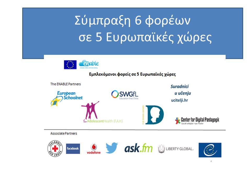 Σύμπραξη 6 φορέων σε 5 Ευρωπαϊκές χώρες