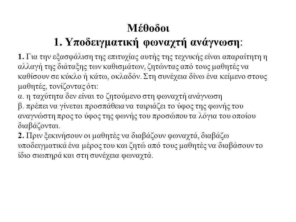 Μέθοδοι 1. Υποδειγματική φωναχτή ανάγνωση: 1.