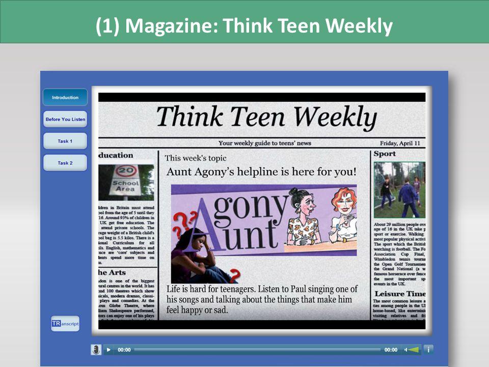 (1) Magazine: Think Teen Weekly
