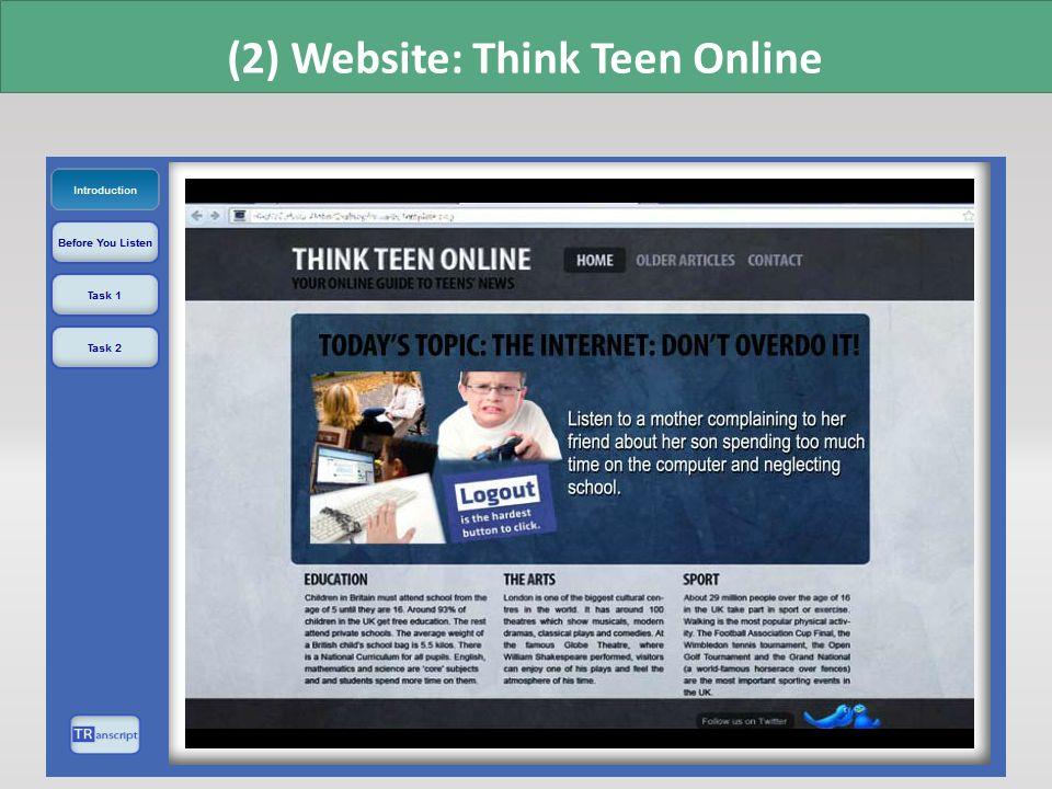 (2) Website: Think Teen Online