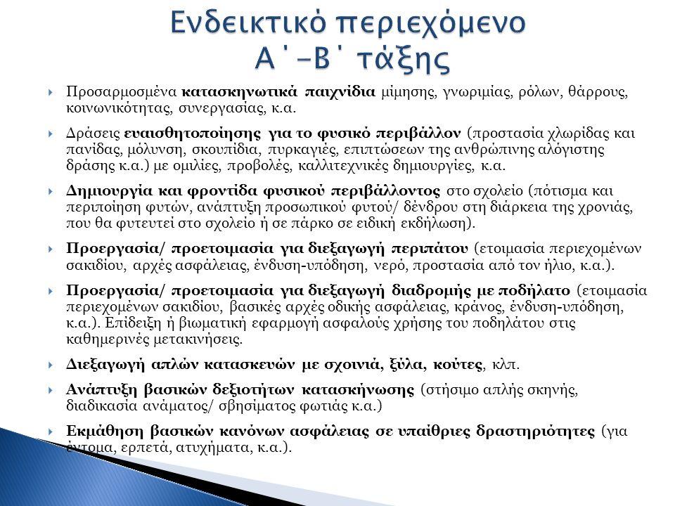  Προσαρμοσμένα κατασκηνωτικά παιχνίδια μίμησης, γνωριμίας, ρόλων, θάρρους, κοινωνικότητας, συνεργασίας, κ.α.  Δράσεις ευαισθητοποίησης για το φυσικό