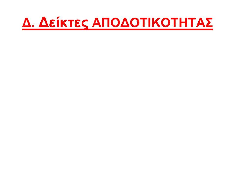 Δ. Δείκτες ΑΠΟΔΟΤΙΚΟΤΗΤΑΣ