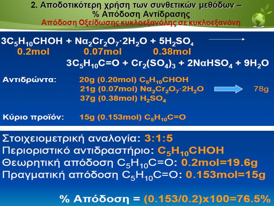 Page  32 Αποδοτικότερη χρήση των συνθετικών μεθόδων – 2.