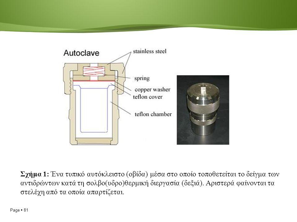 Page  81 Σχήμα 1: Ένα τυπικό αυτόκλειστο (οβίδα) μέσα στο οποίο τοποθετείται το δείγμα των αντιδρώντων κατά τη σολβο(υδρο)θερμική διεργασία (δεξιά).