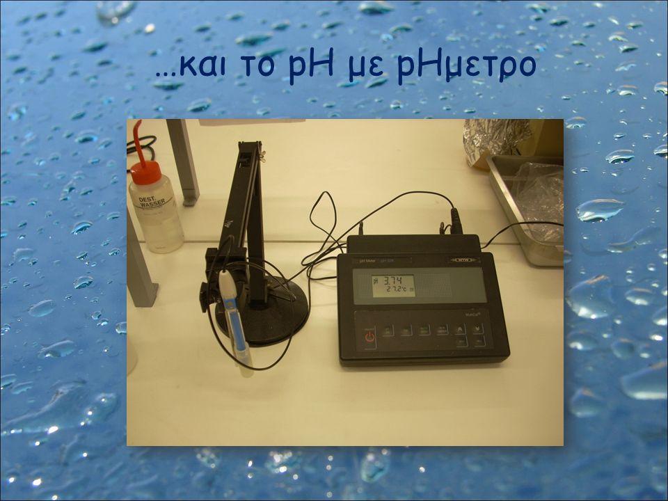 …και το pH με pHμετρο