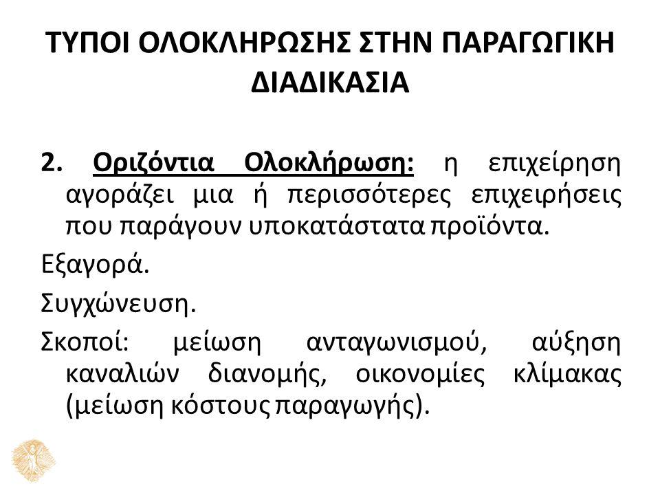 ΤΥΠΟΙ ΟΛΟΚΛΗΡΩΣΗΣ ΣΤΗΝ ΠΑΡΑΓΩΓΙΚΗ ΔΙΑΔΙΚΑΣΙΑ 2.