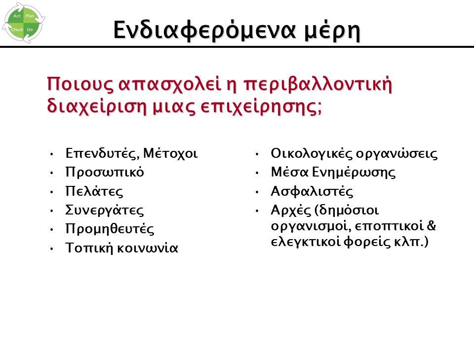 Εντοπισμός μη-συμμορφώσεων –Έναντι νομοθετικών απαιτήσεων, π.χ.