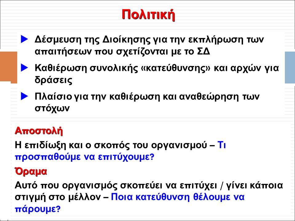 Φ. Κρόκος - ΔΙΠ 51 / ΑΘΗ-2, 3η ΟΣΣ / 2013-01-19  Δέσμευση της Διοίκησης για την εκ π λήρωση των α π αιτήσεων π ου σχετίζονται με το ΣΔ  Καθιέρωση συ