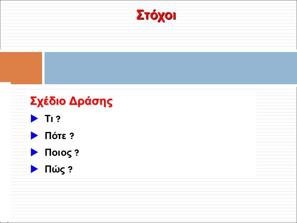 Φ. Κρόκος - ΔΙΠ 51 / ΑΘΗ-2, 3η ΟΣΣ / 2013-01-19 Στόχοι Σχέδιο Δράσης  Τι .