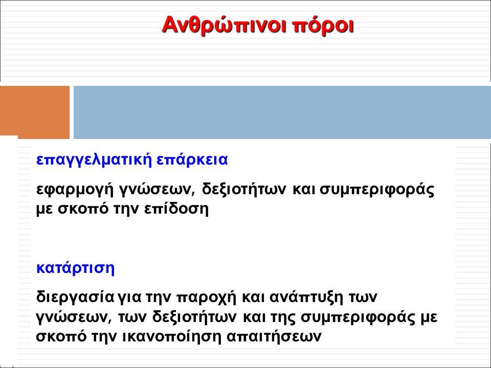 Φ. Κρόκος - ΔΙΠ 51 / ΑΘΗ-2, 3η ΟΣΣ / 2013-01-19 Ανθρώ π ινοι π όροι ε π αγγελματική ε π άρκεια εφαρμογή γνώσεων, δεξιοτήτων και συμ π εριφοράς με σκο