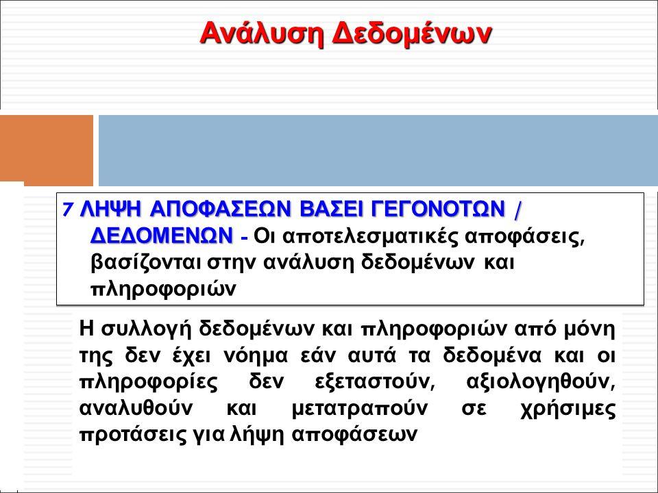 Φ. Κρόκος - ΔΙΠ 51 / ΑΘΗ-2, 3η ΟΣΣ / 2013-01-19 Ανάλυση Δεδομένων Η συλλογή δεδομένων και π ληροφοριών α π ό μόνη της δεν έχει νόημα εάν αυτά τα δεδομ