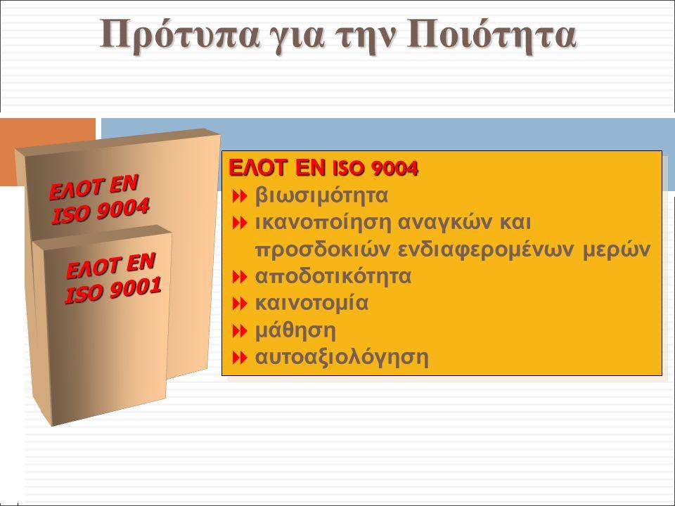 Φ. Κρόκος - ΔΙΠ 51 / ΑΘΗ-2, 3η ΟΣΣ / 2013-01-19 Πρότυπα για την Ποιότητα ΕΛΟΤ ΕΝ ISO 9004  βιωσιμότητα  ικανο π οίηση αναγκών και π ροσδοκιών ενδιαφ