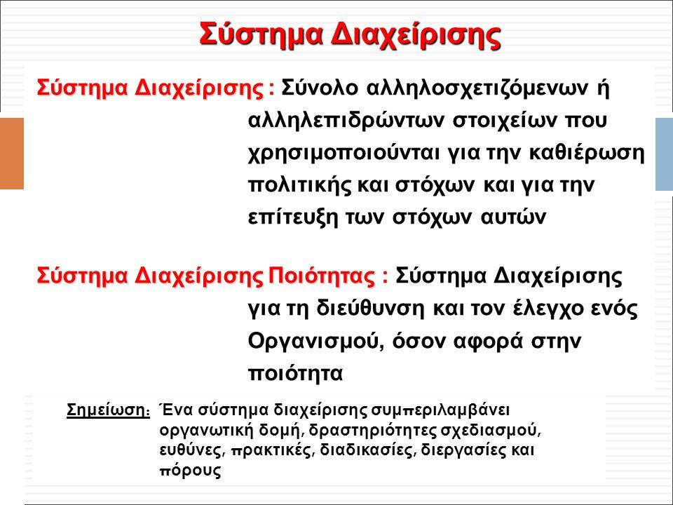 Φ. Κρόκος - ΔΙΠ 51 / ΑΘΗ-2, 3η ΟΣΣ / 2013-01-19 Σύστημα Διαχείρισης Σύστημα Διαχείρισης : Σύνολο αλληλοσχετιζόμενων ή αλληλεπιδρώντων στοιχείων που χρ