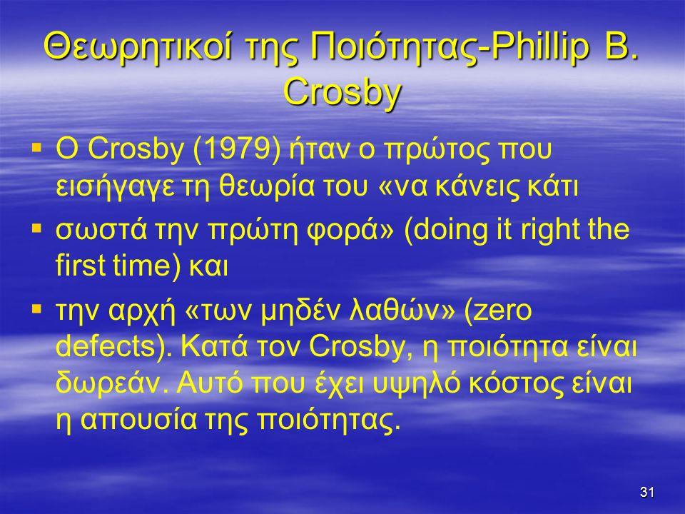 31 Θεωρητικοί της Ποιότητας-Phillip B.