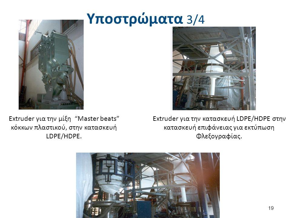Υποστρώματα 3/4 19 Extruder για την μίξη Master beats κόκκων πλαστικού, στην κατασκευή LDPE/HDPE.