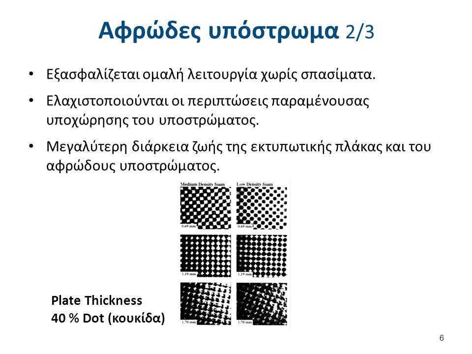 Αφρώδες υπόστρωμα 2/3 Εξασφαλίζεται ομαλή λειτουργία χωρίς σπασίματα.