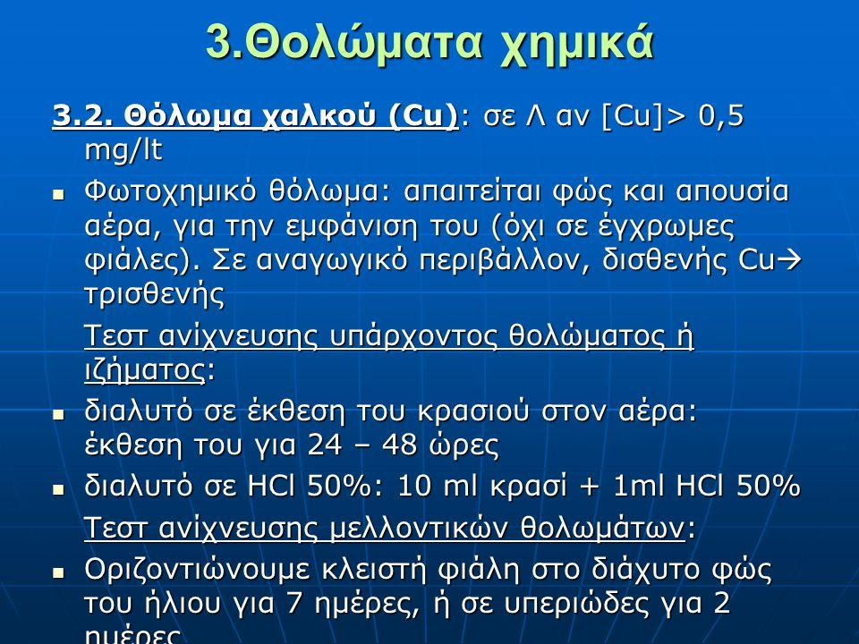 3.Θολώματα χημικά 3.2.