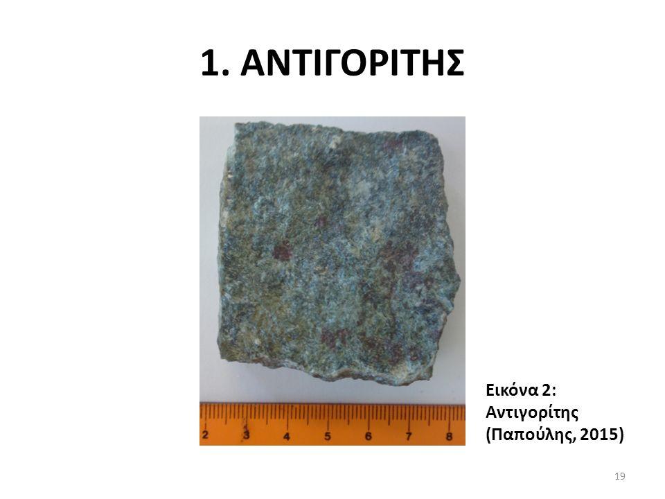 1. ΑΝΤΙΓΟΡΙΤΗΣ Εικόνα 2: Αντιγορίτης (Παπούλης, 2015) 19