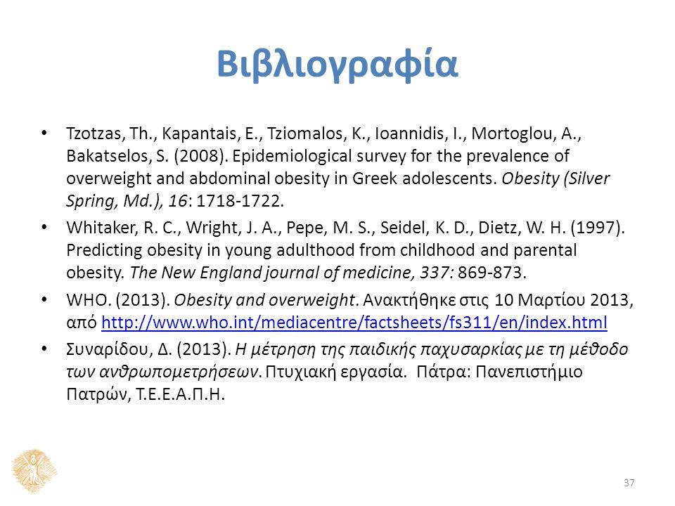 Βιβλιογραφία Tzotzas, Th., Kapantais, E., Tziomalos, K., Ioannidis, I., Mortoglou, A., Bakatselos, S.