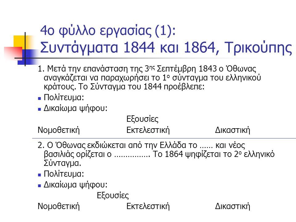 Επίσκεψη στη Βουλή Παρακολούθηση εκπαιδευτικού προγράμματος «Χαρίλαος Τρικούπης: Η αρχή της δεδηλωμένης»