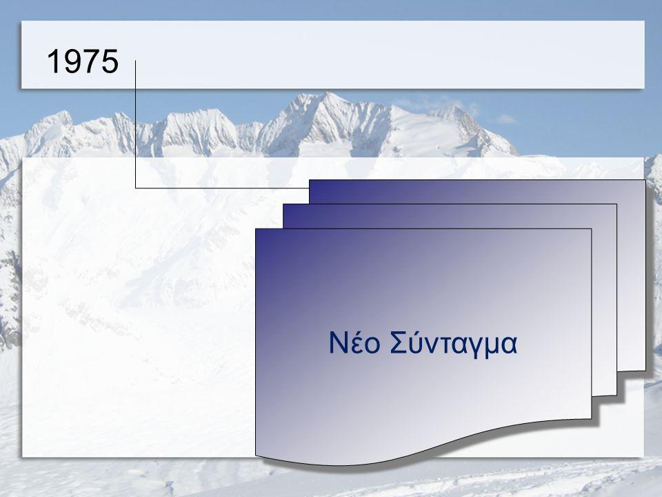 Δημοψήφισμα 1974 Στις 8 Δεκεμβρίου 1974, μετά την πτώση της δικτατορίας, πραγματοιποιήθηκε δημοψήφισμα, με το οποίο το 69,18% το ελληνικού λαού αποφάσισε να καταργήσει τη Βασιλεία