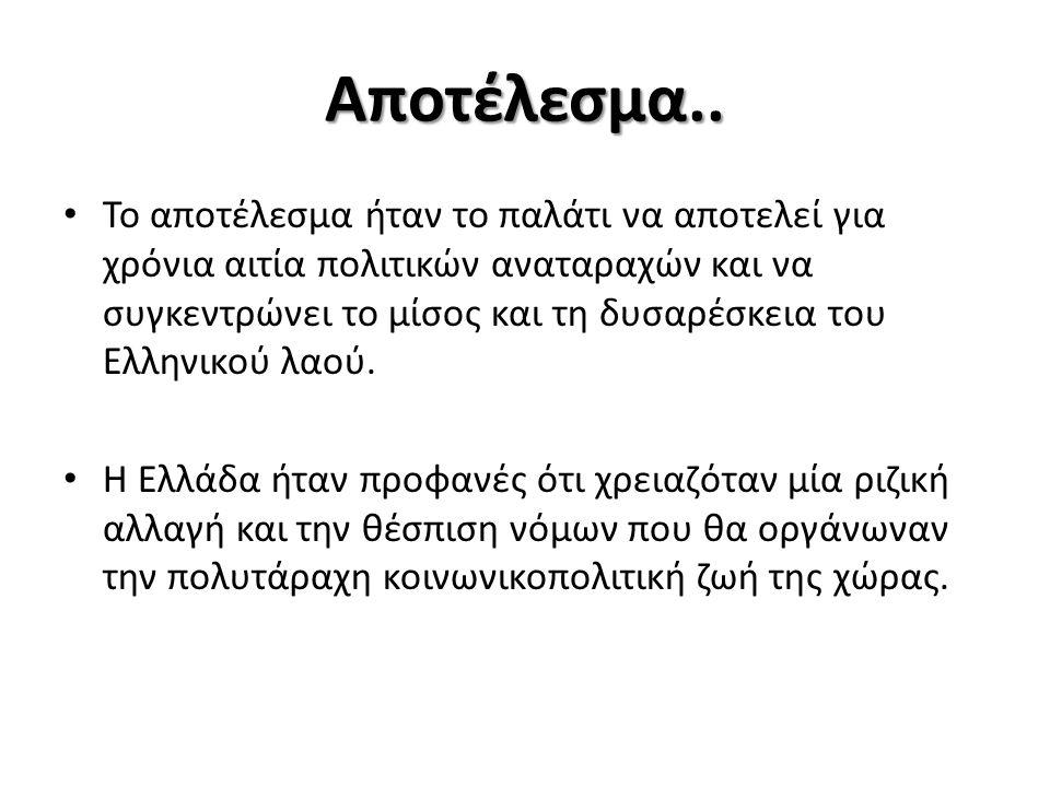 Μέχρι τότε… Η κατάσταση στην Ελλάδα ήταν τραγική και διαρκώς χειροτέρευε.