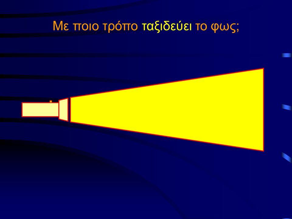 Γιατί το φως αλλάζει διεύθυνση διάδοσης όταν αλλάζει μέσο; Το φως έχει διαφορετική ταχύτητα διάδοσης σε κάθε μέσο