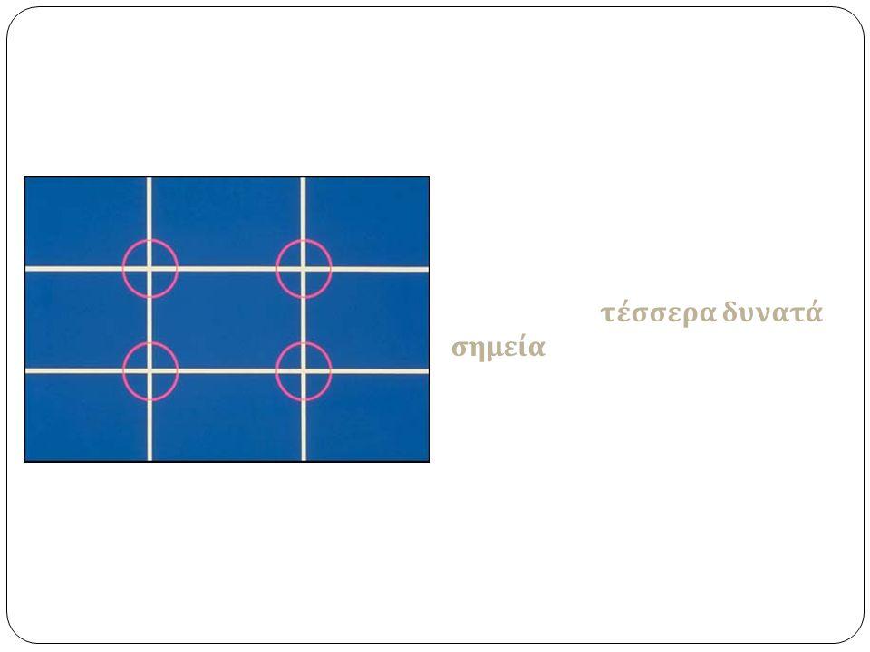 Πριν βγάλετε τη φωτογραφία, φανταστείτε ότι η περιοχή της εικόνας σας χωρίζεται με φανταστικές γραμμές σε τρία μέρη οριζόντια και κάθετα.