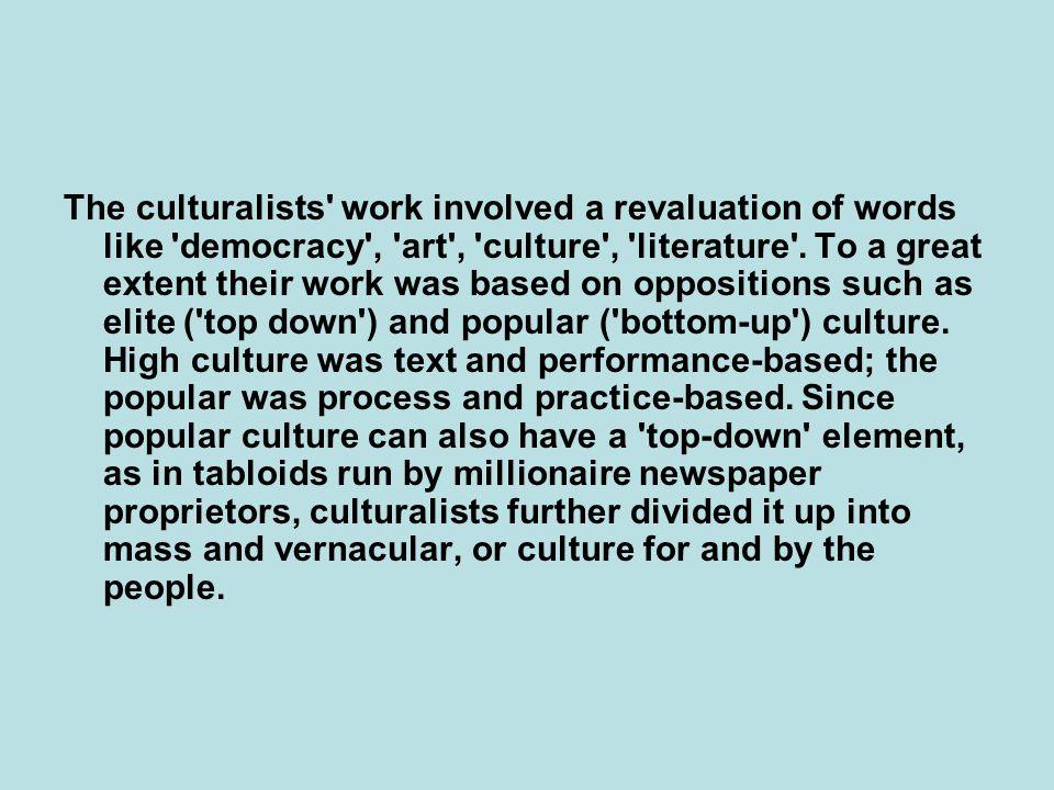 Πολιτισμική ιστορία των εικόνων (= κοινωνικές ιστορίες της τέχνης): –μαρξιστική προσέγγιση: η τέχνη = αντανάκλαση ολόκληρης της κοινωνίας, –προσέγγιση σε μικρο-επίπεδο: εστίαση στο μικρόκοσμο της τέχνης, π.χ.