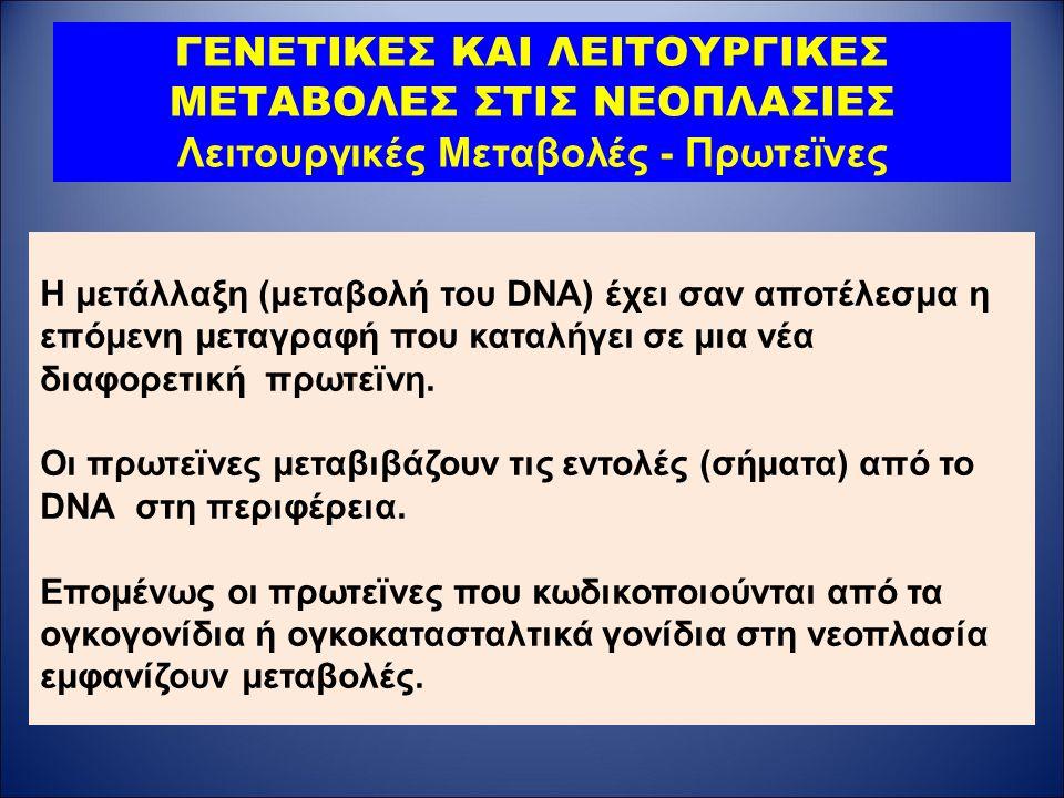 Η μετάλλαξη (μεταβολή του DNA) έχει σαν αποτέλεσμα η επόμενη μεταγραφή που καταλήγει σε μια νέα διαφορετική πρωτεϊνη.