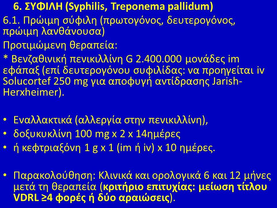 6. ΣΥΦΙΛΗ (Syphilis, Treponema pallidum) 6.1.