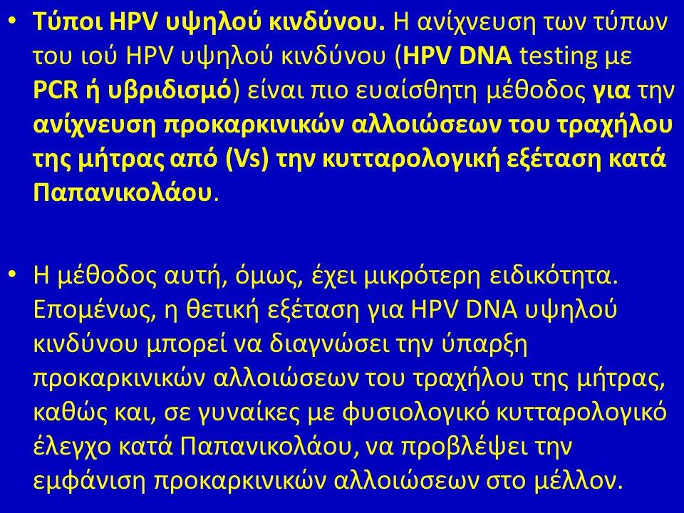 Τύποι HPV υψηλού κινδύνου.