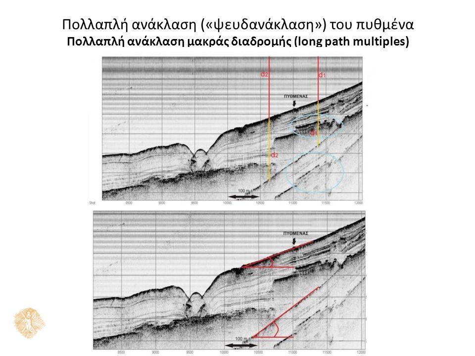 Πολλαπλή ανάκλαση («ψευδανάκλαση») του πυθμένα Πολλαπλή ανάκλαση μακράς διαδρομής (long path multiples)