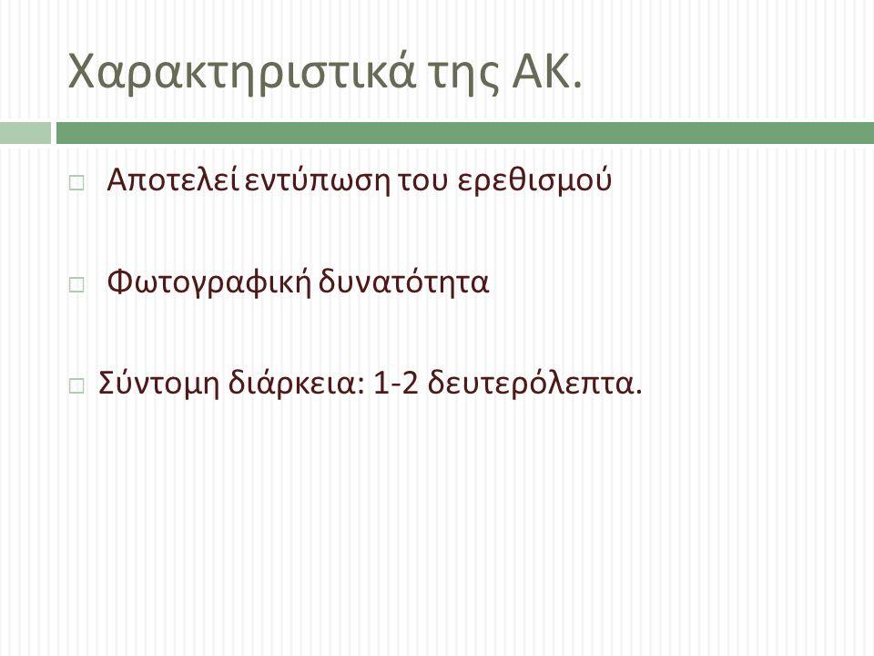 Χαρακτηριστικά της ΑΚ.