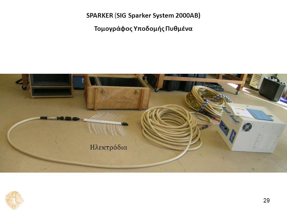 SPARKER (SIG Sparker System 2000AB) Τομογράφος Υποδομής Πυθμένα Ηλεκτρόδια 29