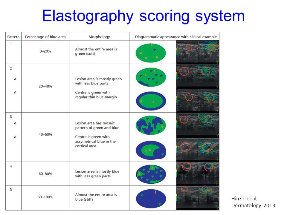 Elastography scoring system Hinz T et al, Dermatology. 2013