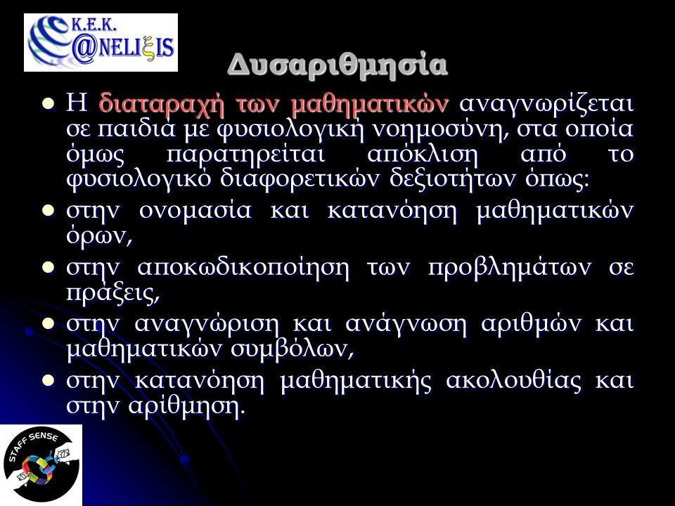 Δυσορθογραφία Η δυσορθογραφία αναφέρεται σε προβλήματα της ορθογραφίας (λεξιλογίου, στίξης, σύνταξης, τονισμού) που εμφανίζονται νωρίς στη σχολική φοίτηση μετά την απόκτηση της αναγνωστικής ικανότητας.
