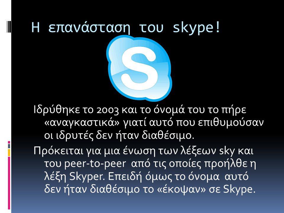 Η επανάσταση του skype.