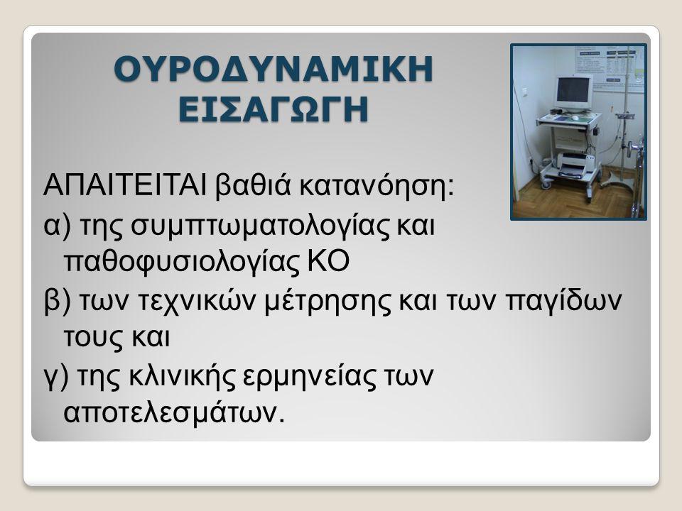 ΟΥΡΟΔΥΝΑΜΙΚΗ ΣΤΟΧΟΙ Η αναπαραγωγή των συμπτωματικών ενοχλημάτων του ασθενούς κατά την εξέταση.