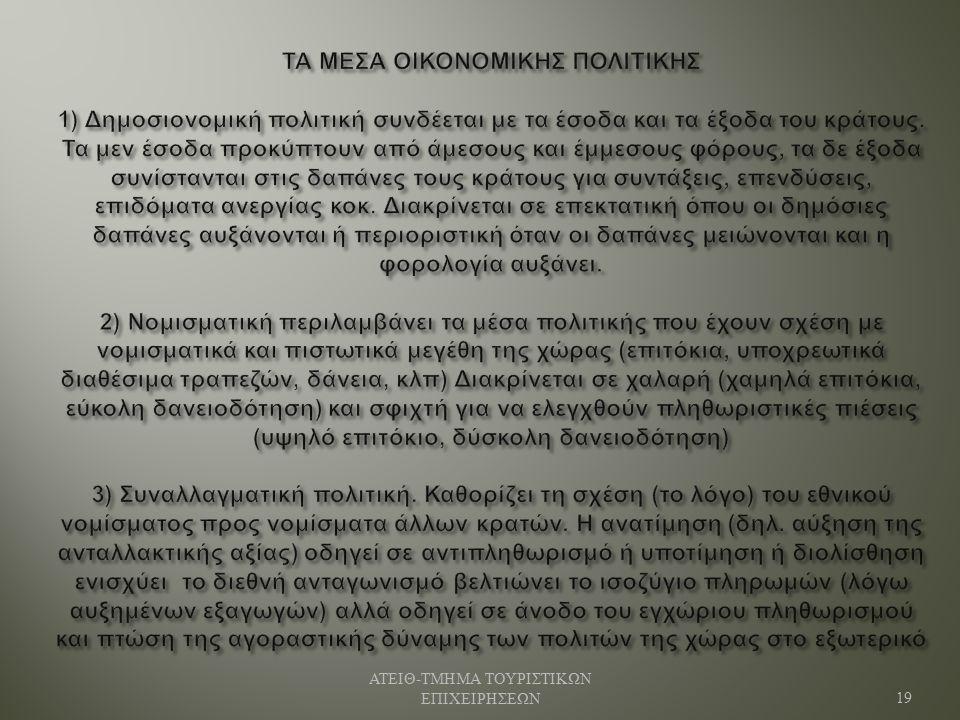 ΑΤΕΙΘ - ΤΜΗΜΑ ΤΟΥΡΙΣΤΙΚΩΝ ΕΠΙΧΕΙΡΗΣΕΩΝ 19