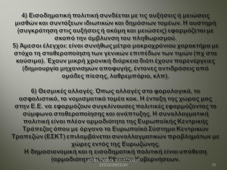 ΑΤΕΙΘ - ΤΜΗΜΑ ΤΟΥΡΙΣΤΙΚΩΝ ΕΠΙΧΕΙΡΗΣΕΩΝ 20