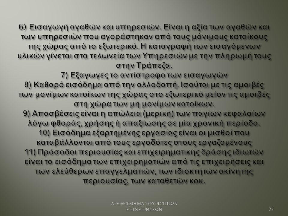 ΑΤΕΙΘ - ΤΜΗΜΑ ΤΟΥΡΙΣΤΙΚΩΝ ΕΠΙΧΕΙΡΗΣΕΩΝ 23